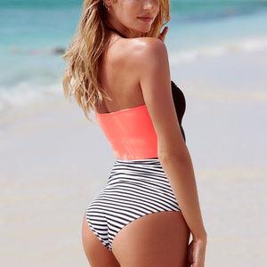 003801645552e Victoria s Secret Swim - VS Black and White Colorblock Swimsuit